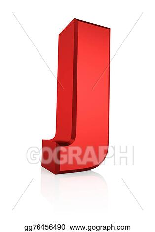 Stock Illustration 3d Letter J Clipart Drawing Gg76456490 Gograph