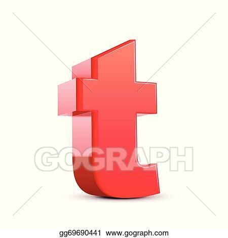 Clip Art Vector 3d Letter T Stock Eps Gg69690441 Gograph