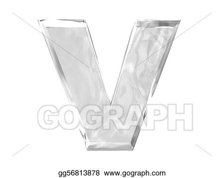 Drawing 3d Letter V Capital Clipart Drawing Gg56813878 Gograph