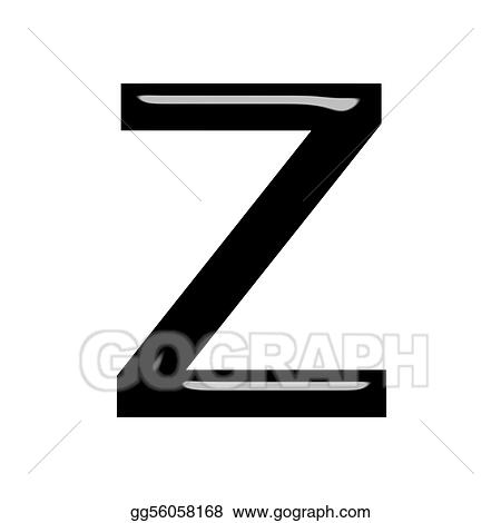 Drawing - 3d letter z  Clipart Drawing gg56058168 - GoGraph