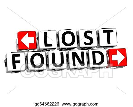 drawing 3d lost found button click here block text clipart rh gograph com lost and found clip art kids lost and found clipart free