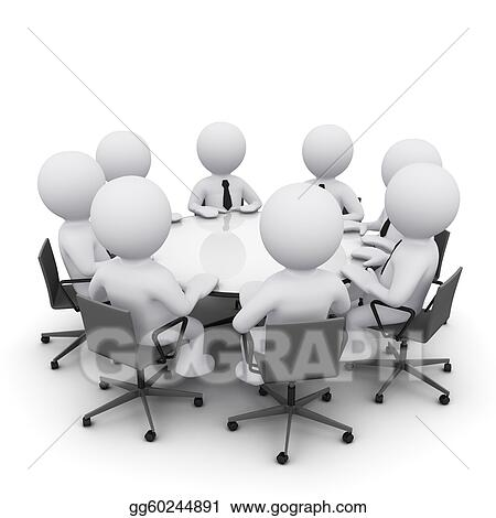 stock illustration 3d man at business meeting clipart rh gograph com business meeting agenda clipart church business meeting clipart