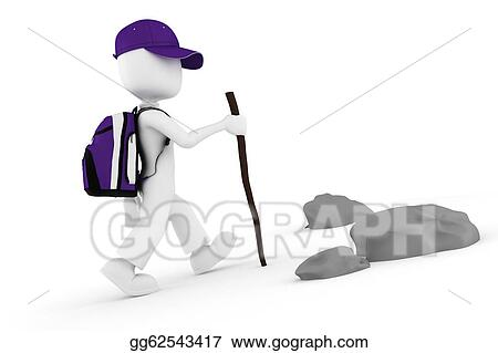 Climbing A Mountain Clipart