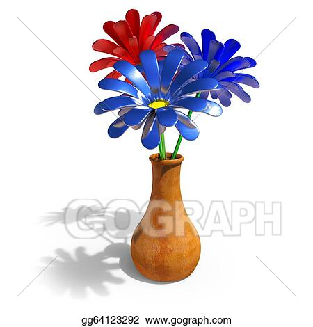 How To Draw A 3d Flower Vase Flowers Healthy