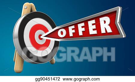 Stock Illustration - 3d offer arrow  Clipart Illustrations