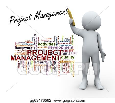 stock illustrations 3d person and project management word tags rh gograph com Time Management Clip Art Clip Art Change Management