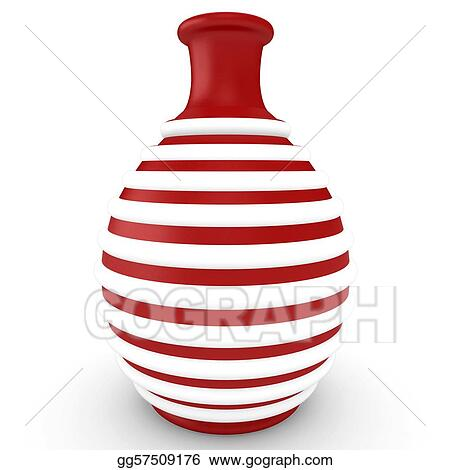 Stock Illustrations 3d Red Decorative Vase Stock Clipart