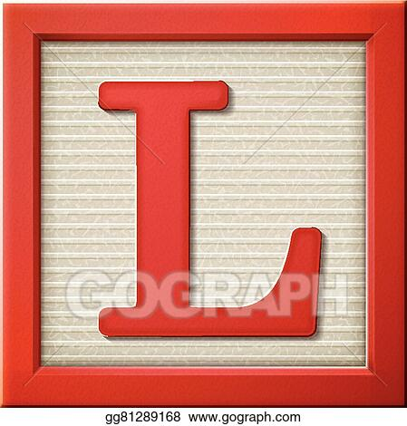 Vector Art 3d Red Letter Block L Clipart Drawing Gg81289168 Gograph