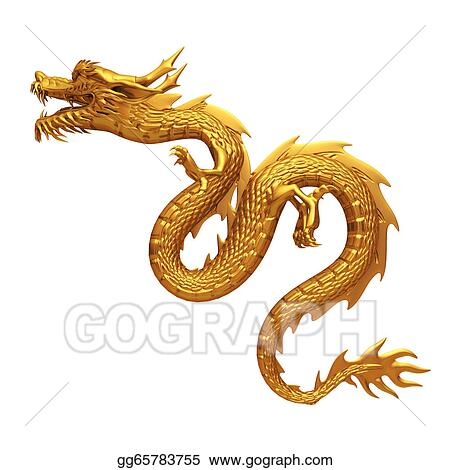 drawing 3d render golden chinese dragon clipart drawing rh gograph com chinese dragon clip art free chinese dragon clip art free