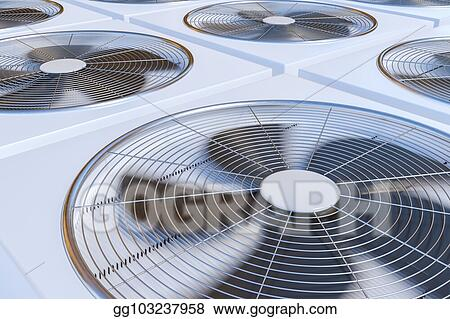 3d rendered illustration of hvac units (heating, ventilation and
