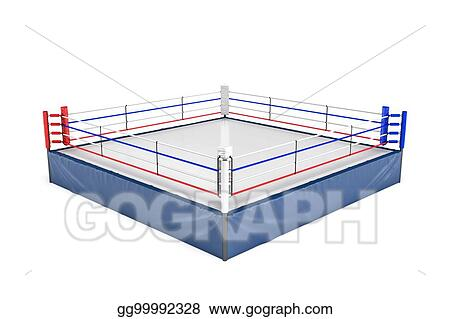 Stock illustration 3d rendering of an empty boxing ring in side 3d rendering of an empty boxing ring in side view to its corner isolated on white background ccuart Images