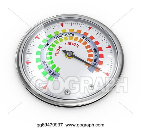 drawing 3d risk meter guage clipart drawing gg69470997 gograph