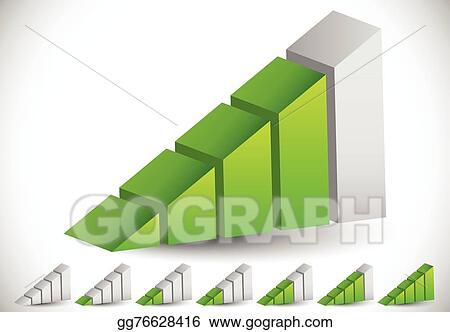 vector illustration 3d signal strength indicator icon set