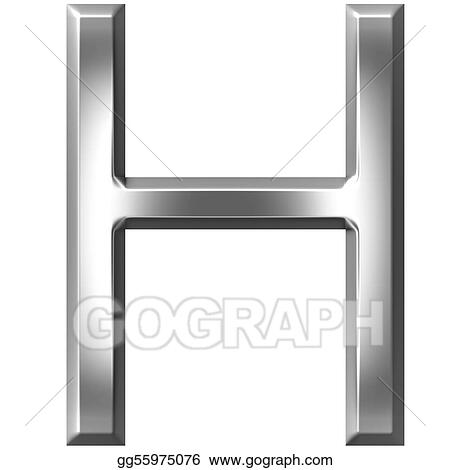 Clipart 3d Silver Letter H Stock Illustration Gg55975076 Gograph