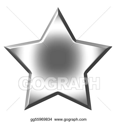 drawing 3d silver star clipart drawing gg55969834 gograph rh gograph com Shining Star Clip Art silver christmas star clip art