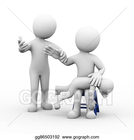 Drawing - 3d stop child beating punishment  Clipart Drawing
