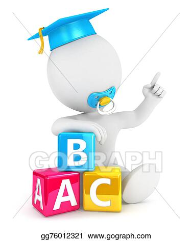 Drawing - 3d white people baby blocks  Clipart Drawing gg76012321