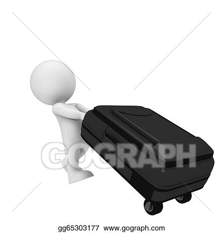 1d18232014 Stock Ilration White People With Traveling Bag Clipart