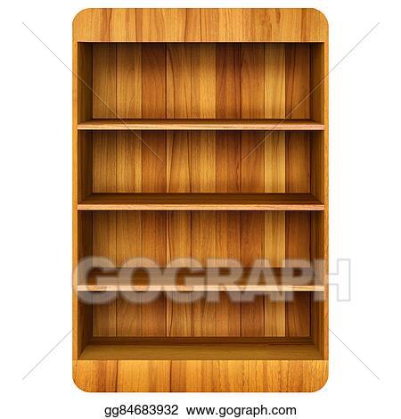 3d Wooden Book Shelf Background