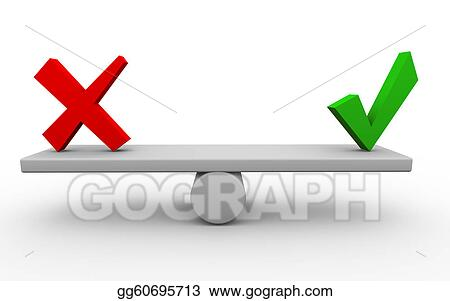 Stock Illustration 3d Yes No Balance Clipart Drawing Gg60695713