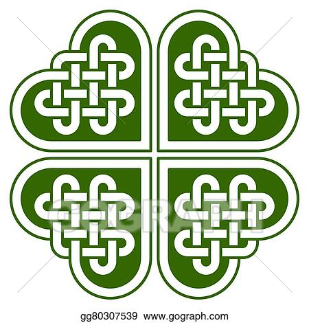 vector art 4 leaf clover shaped celtic knot eps clipart