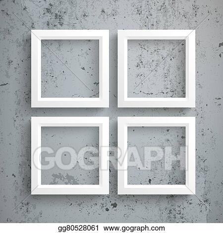 Stock Illustration - 4 white frames concrete. Clip Art gg80528061 ...