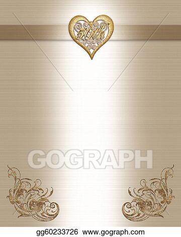 Stock illustration 50th anniversary invitation gold clip art 50th anniversary invitation gold stopboris Choice Image