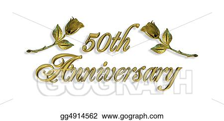 Stock illustrations 50th anniversary invitation graphic stock 50th anniversary invitation graphic stopboris Gallery