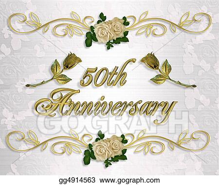 Stock illustration 50th anniversary invitation clip art 50th anniversary invitation stopboris Gallery