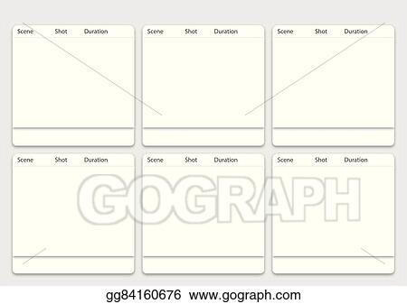 Eps Illustration 6 Frame Animation Storyboard Template Vector