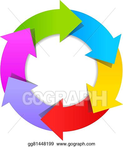 Vector art 6 part arrow wheel diagram eps clipart gg81448199 6 part arrow wheel diagram ccuart