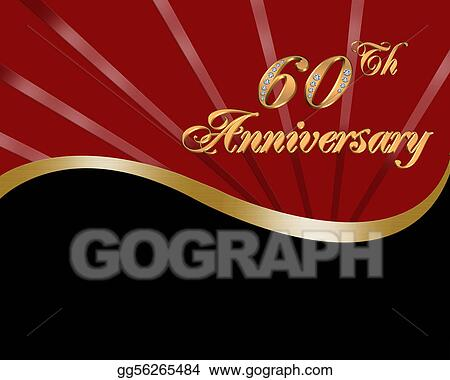 60th wedding anniversary invitation