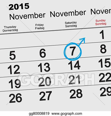 Vector Illustration - 7 november international mens day
