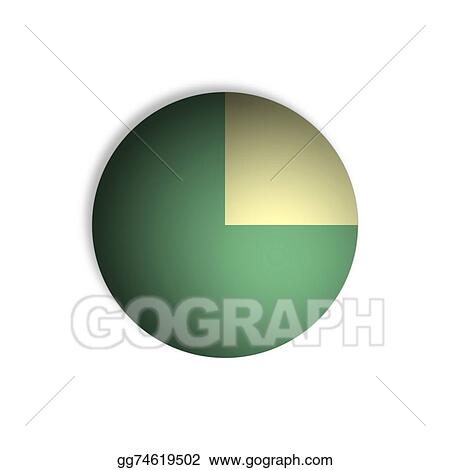 Drawing 75 Pie Chart Percentage Graphics Clipart Drawing