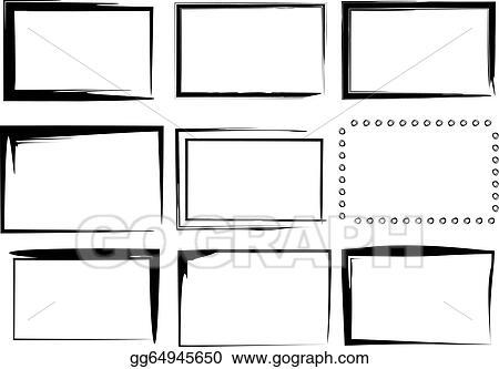 Vector Illustration - 9 isolated vector border frames ...