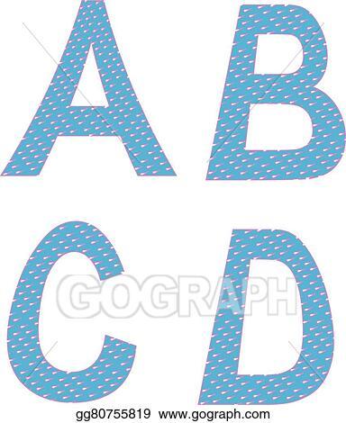 Vector Art A B C D Letters Symbols Alphabet Clipart Drawing