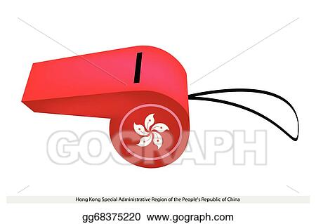 Vector Art A Beautiful Red Whistle Of Hong Kong Clipart Drawing
