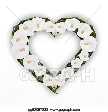 Stock Illustration - A beautifully heart frame of white . Clipart ...