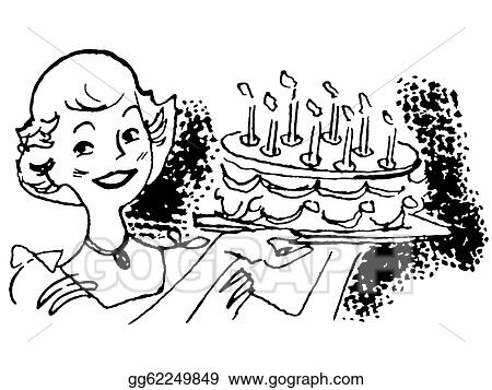 Amazing Clip Art A Black And White Version Of A Vintage Illustration Of Funny Birthday Cards Online Elaedamsfinfo