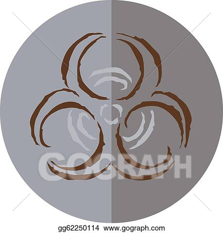 Stock Illustration A Circular Sign With Biohazard Symbol Clipart