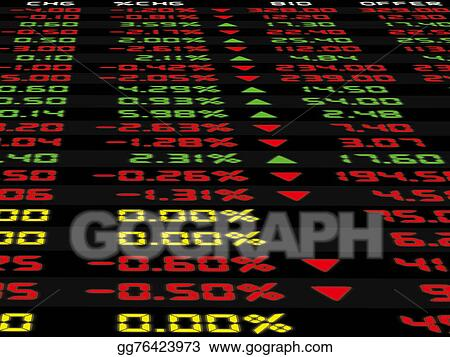Stock Illustration - A display of daily stock market   Clip Art