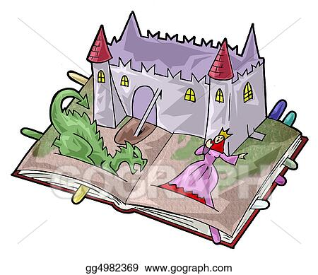 Fairy tail book. Stock illustration a tale