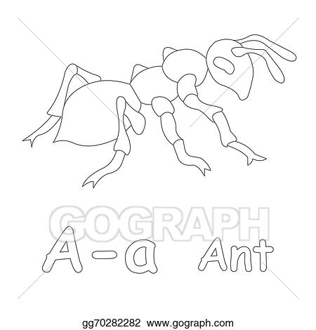 Drawings - A for ant coloring page. Stock Illustration gg70282282 ...