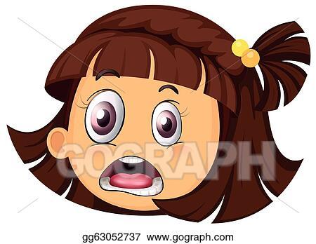 vector art a girl face clipart drawing gg63052737 gograph rh gograph com girl face clipart images girl face clipart images