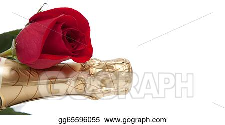 Pictures A Gold Foil Wrapped Neck Of A Champagne Bottle With A Red