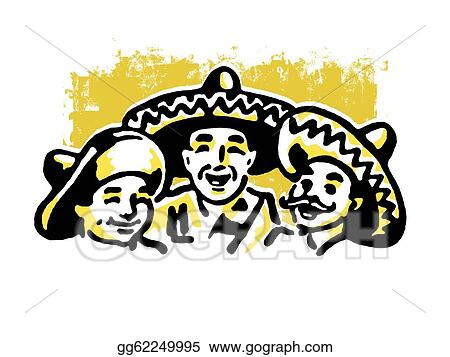 A Graphic Illustration Of Traditional Mexican Family