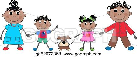 Happy Family Clipart Four - Png Download (#1386870) - PinClipart