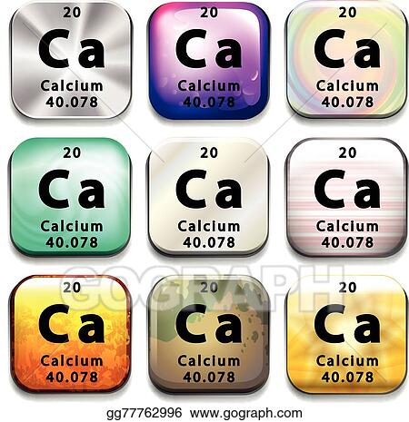 Vector Art A Periodic Table Showing Calcium Clipart Drawing