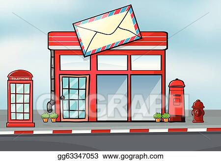 Vector Art A Post Office Clipart Drawing Gg63347053 Gograph Rh Gograph Com Post  Office Clipart Black