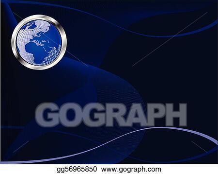 Vector art a royal blue business card eps clipart gg56965850 a royal blue business card colourmoves